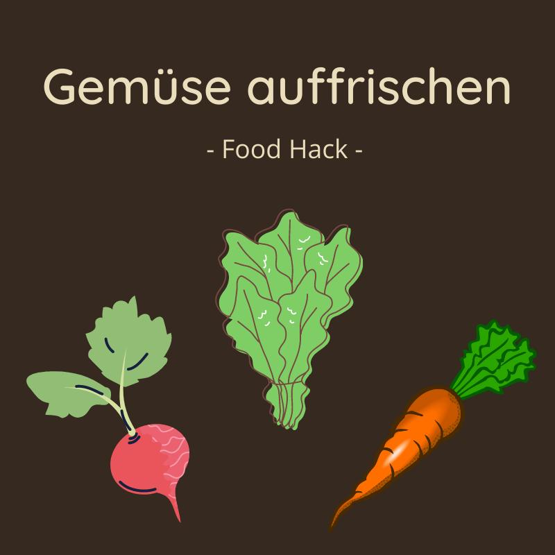 Welkes Gemüse kannst Du wieder auffrischen. Hier erfährst Du wie.