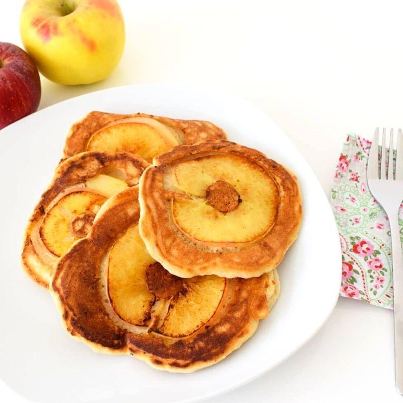 Mache aus foodsharing Äpfeln leckere Apfelpfannküchle
