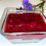 Zwetschgenmus mit Marcarponecreme ergibt ein sehr leckeres Dessert. Unbedingt mal probieren!